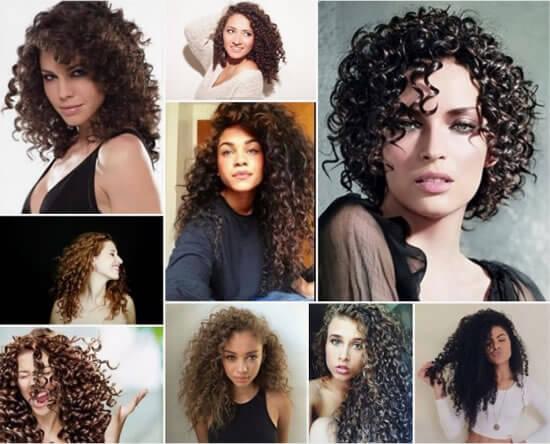 Tipos de peinados pelo rizado